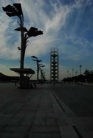 Deptak w parku olimpijskim
