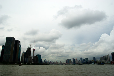 Widok z promu na Pudong