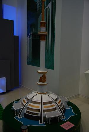 Turkmenistan - wystawa nudna, ale budynek na zdjęciu widzieliśmy na żywo :)