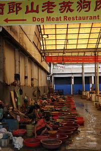 Market w Yangshuo - knajpa byla niestesty zamknieta
