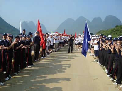 Tłumy czekają na nasze przybycie - ci ludzie ciagneli sie przez ok 3 km!