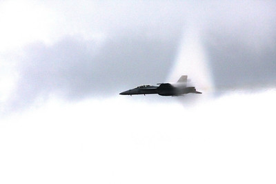 F18 high speed pass .95 mach