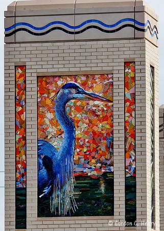 Chisholm Trail Parkway Bridge Monument Mosaics