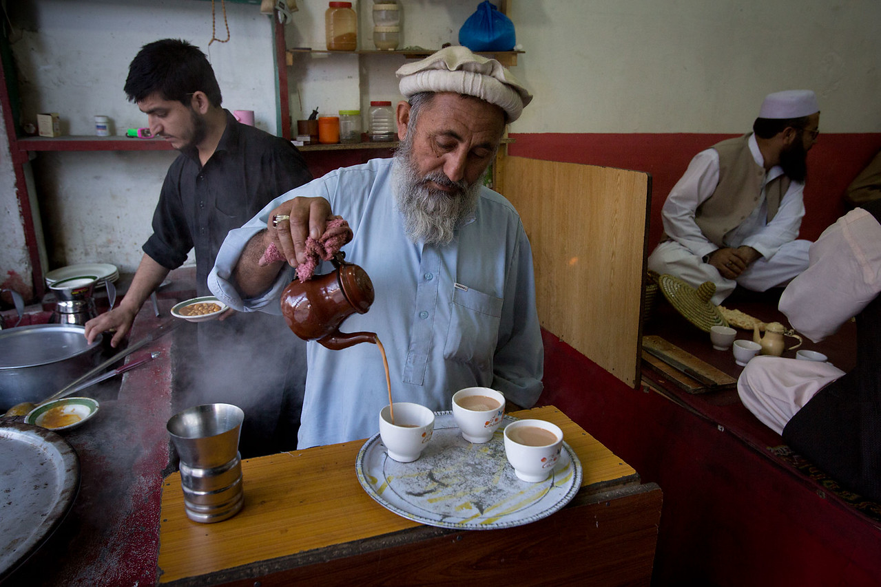 Tea stall. Chitral Bazar.