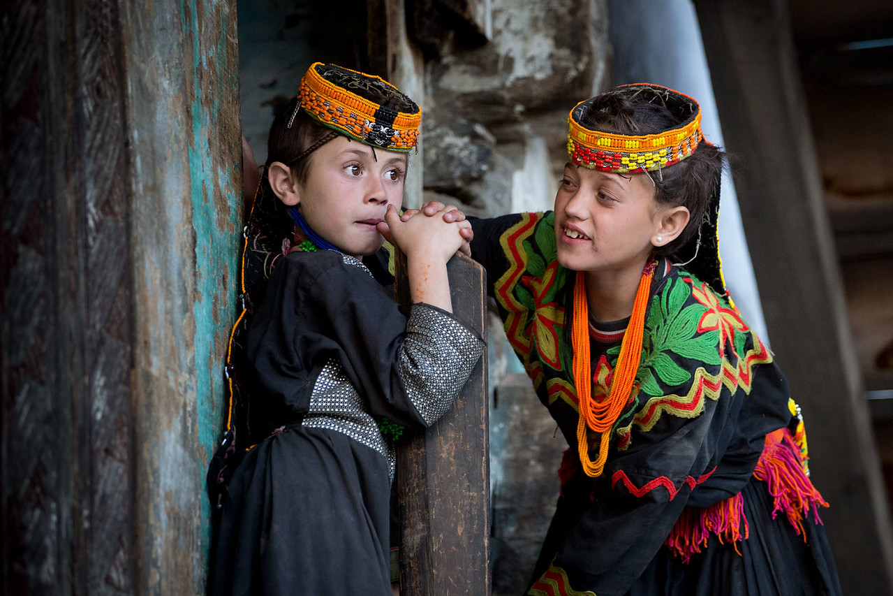 Two Kalasha girls.