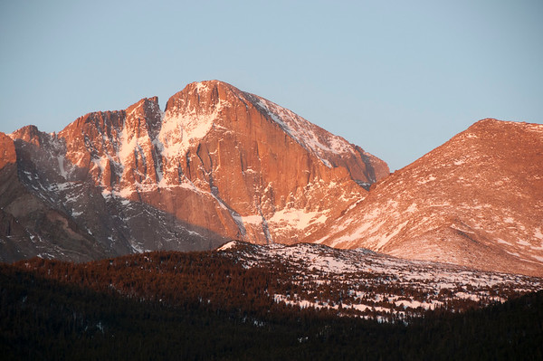 Sunrise on Long Peak Colorado