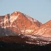 Sunrise on Long Peak Colorado