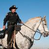 Policeman and Albuquerque Balloon Fiesta