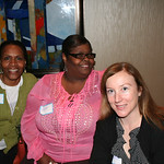 Women of the ELCA staff also enjoy networking. Pictured: Valora (left) Ann and Beth.