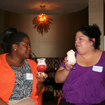 Lidia (left) and Gabriela love their mocktails.