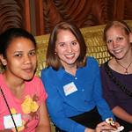 Clara (left), Jordan, and Brittani enjoy some post-work fun.