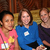 Clara (left), Jordan, and Brittani enjoy some post-work fun.