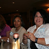 Rachal (left), Deb and Gaby enjoy sampling the delicious appetizers.