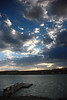 Sun Setting on Cochiti Lake