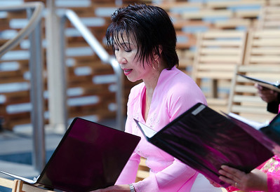 Chi Nguyet, whom many of us have known for 20 years, helping the choir out whenever she has time away from her busy schedule.