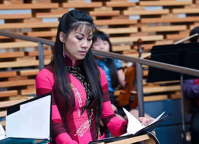 Ms Thanh, one of the choir's talented singers.