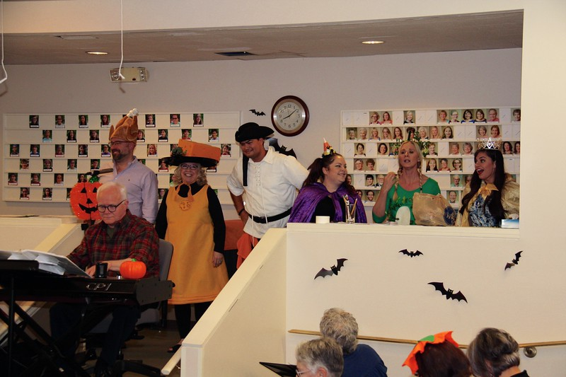 The cast of Harriet's Halloween Candy giving us a reprise of 'It's Halloween!'