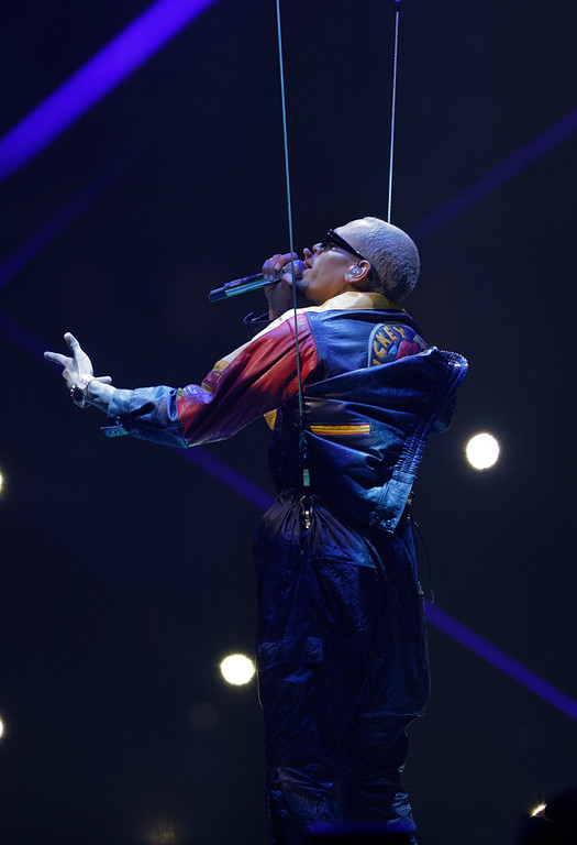 . Chris Brown  live at The Palace of Auburn Hills on 4-7-17. Photo  credit: Ken Settle