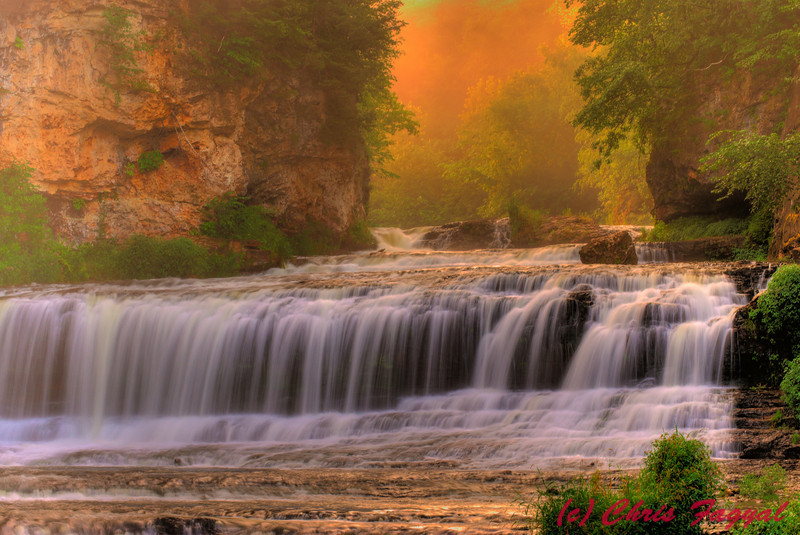 Willow Falls in Wisconsin at Sunrise