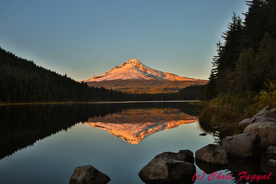 Mount Hood over Trillium Lake