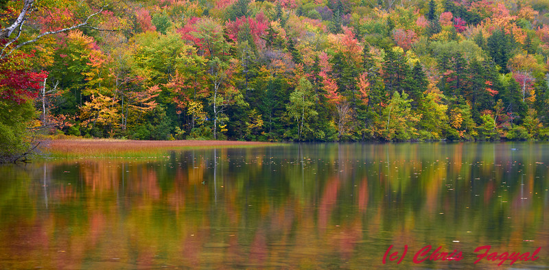 Pond in the Waterville Valley in the fall.