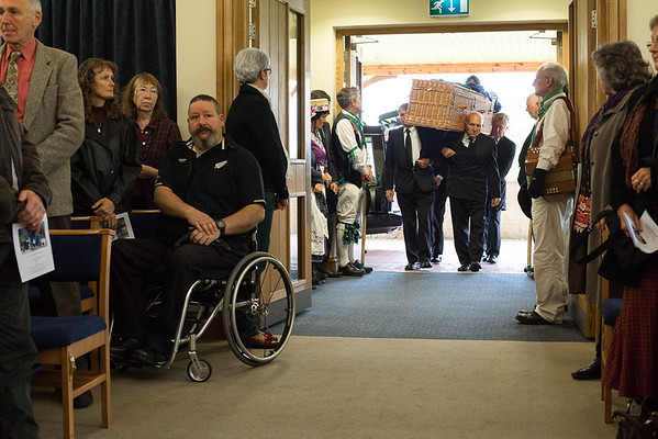 Chris Hall's funeral and Wake