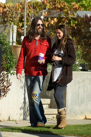 Singer Chris Robinson during Halloween party for his son Ryder with his pregnant girlfriend Allison Bridges in Los Angeles,California.