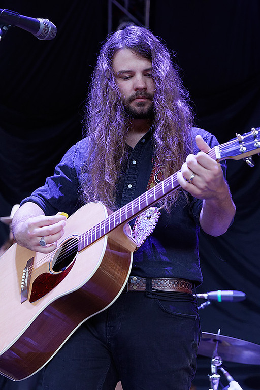 . Brent Cobb  live at DTE Music Theatre on 8-19-17. Photo  credit: Ken Settle