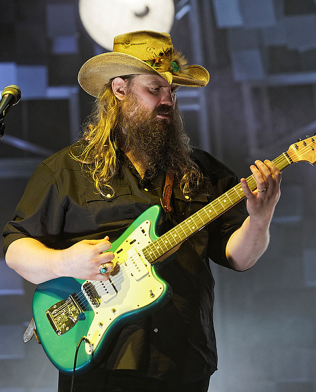 . Chris Stapleton  live at DTE Music Theatre on 8-19-17. Photo  credit: Ken Settle