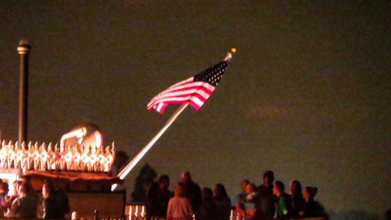 Flag on sternwheeler