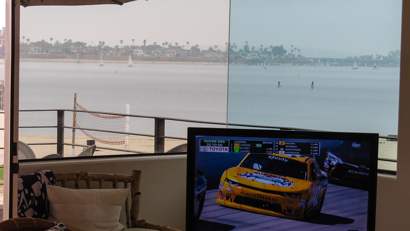 Nascar on tv with view