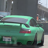 Matte green Porsche