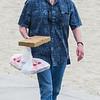 Michael bringing dinner