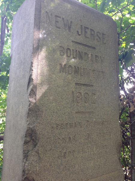 NJ / NY boundary monument