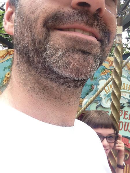 Low-angle selfie