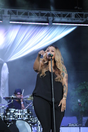 Chrisette Michele performs live at the 2016 Dell East Center Essence Concert Series in Philadelphia, PA