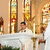 Deacon Rigo Leyva,  Our Lady of Lourdes, Mineral Wells procalims the Gospel