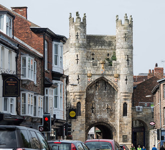 Gate of the ancient walled city of York