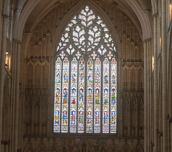 Yorkminster Cathedral, the west window