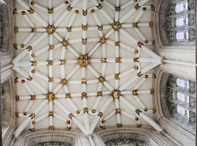 Yorkminster Cathedral, the ceiling of the central tower