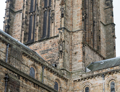 Detail of central tower, Durham Cathedral