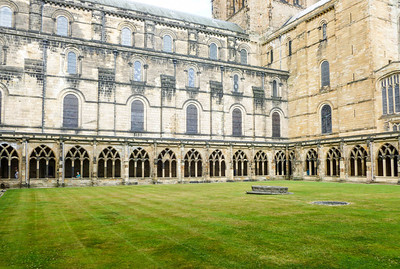 The cloister at Durham Cathedral