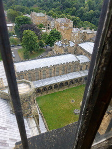 From atop the central tower of Durham Cathedral