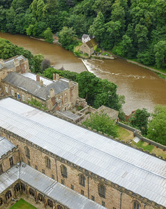 The River Wear from atop the central tower of Durham Cathedral
