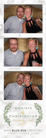 We had an awesome time snapping photos and celebrating Christa and Christopher's wedding! Congrats to the newlyweds!  Love this photo? Head to findmysnaps.com/Christa-Christopher to order prints and more!  Looking for an awesome photo booth for your next event? Head to bluebuscreatives.com for more info.