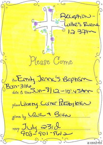 Emily's Baptism 8/12/2007