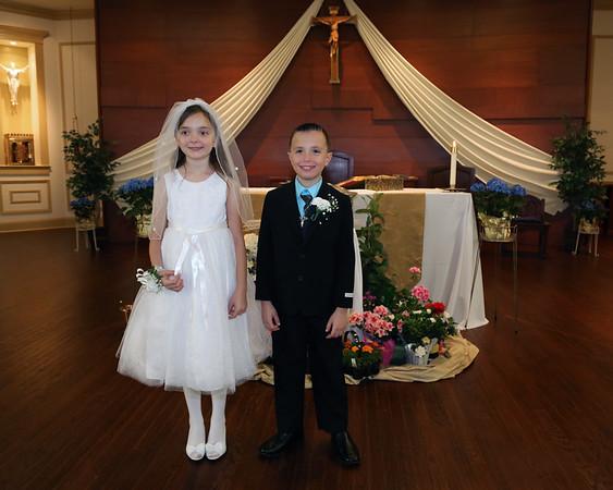 Megan and William Communion