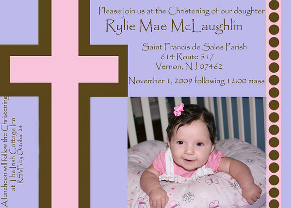 Rylie's Christening 11-1-09