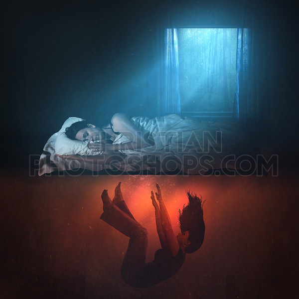 Woman having a nightmare
