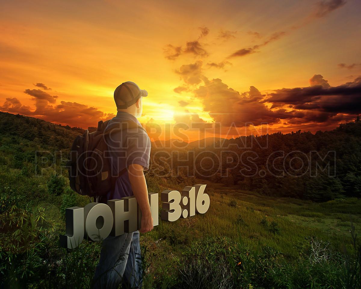 Man carrying Bible verse